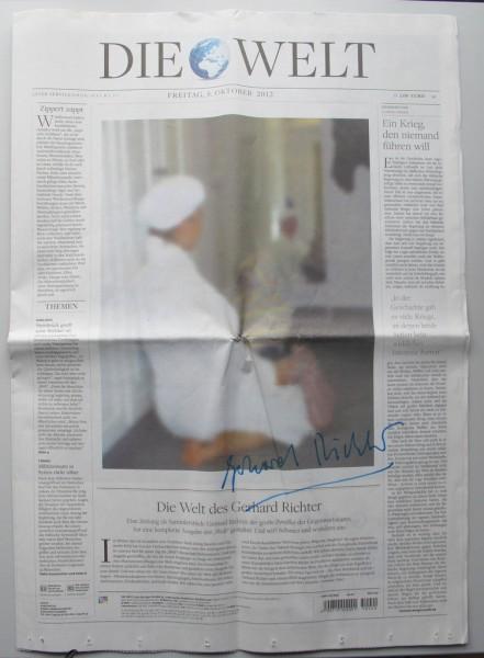 Gerhard Richter. DIE WELT vom 5. Oktober 2012. SIGNIERT (1)